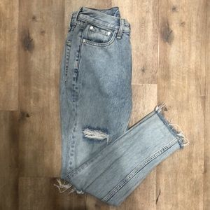 Rag & Bone loose fitted distressed jeans high rise